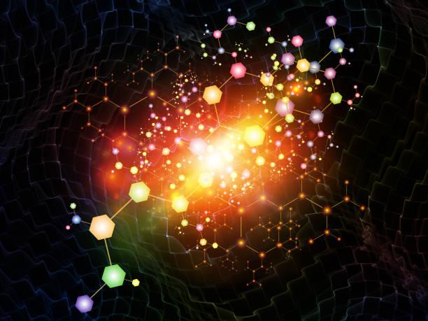 Molecular Forces vector art illustration