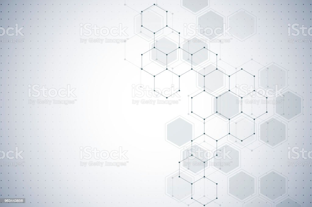 Molecular structure background. Abstract background with molecule DNA - Zbiór ilustracji royalty-free (Abstrakcja)
