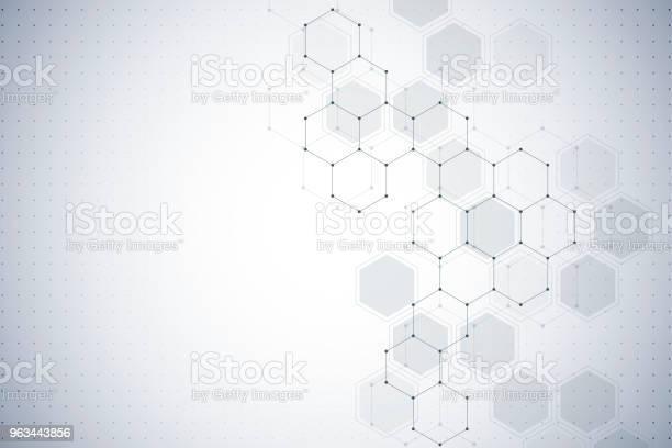 Tła Struktury Molekularnej Abstrakcyjne Tło Z Cząsteczką Dna - Stockowe grafiki wektorowe i więcej obrazów Abstrakcja