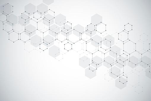 Moleküler Yapısı Arka Plan Molekülün Dna Ile Arka Plan Stok Vektör Sanatı & Altıgen'nin Daha Fazla Görseli