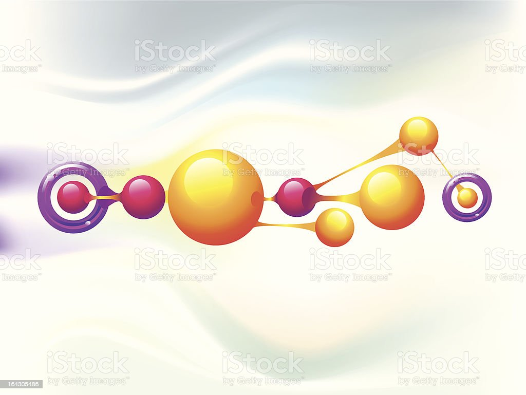 Molecule rings royalty-free stock vector art