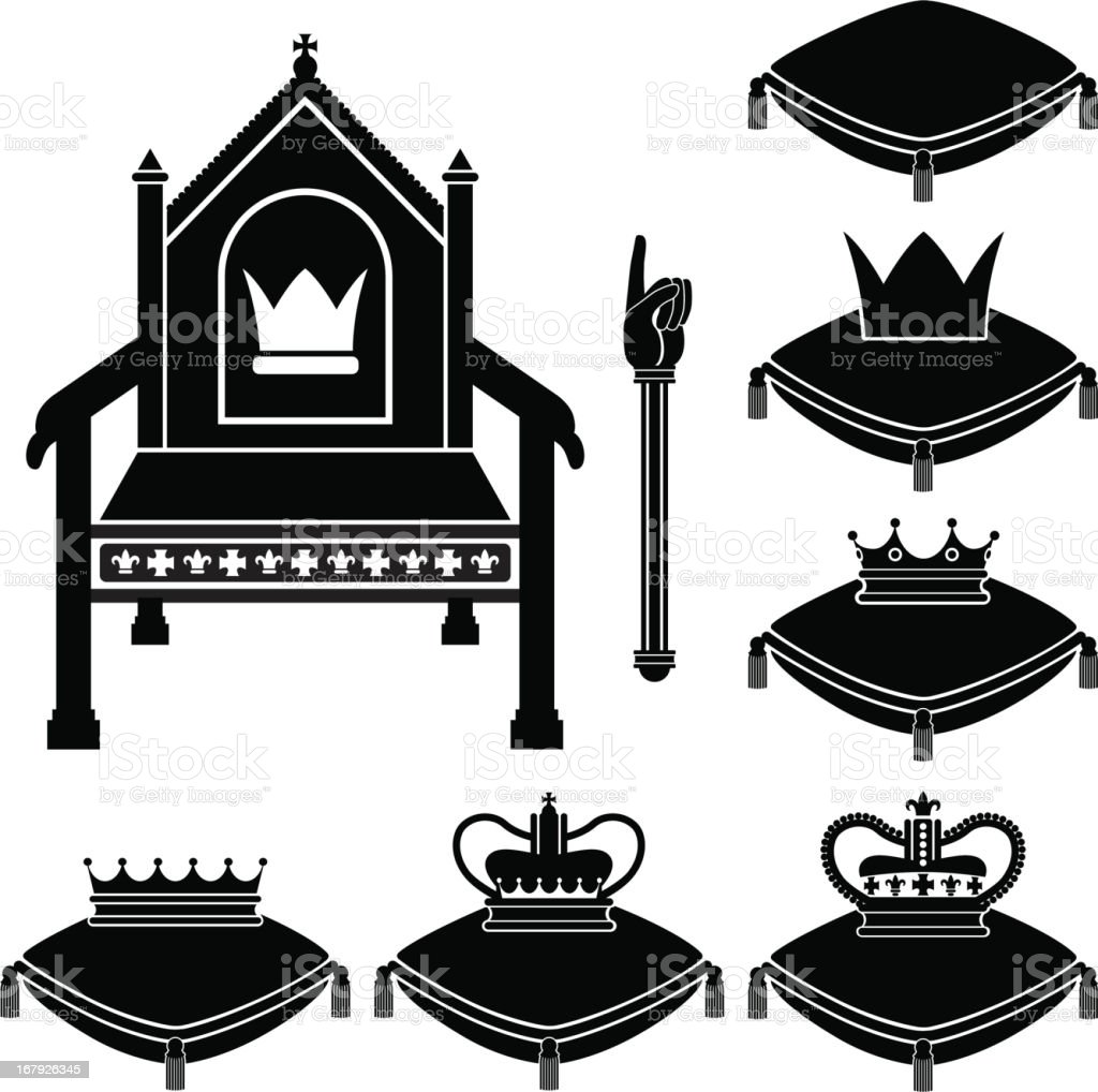 Monarchy kit vector art illustration
