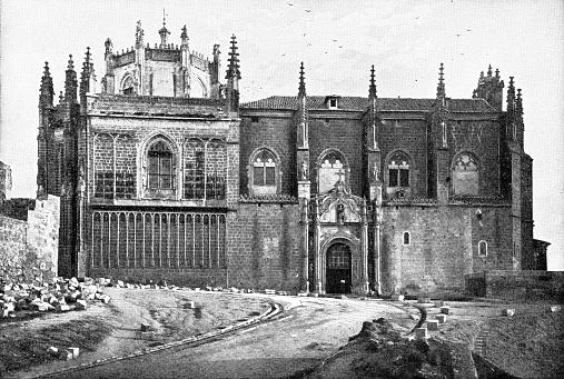 Monastery of San Juan de los Reyes in Toledo, Spain - 19th Century