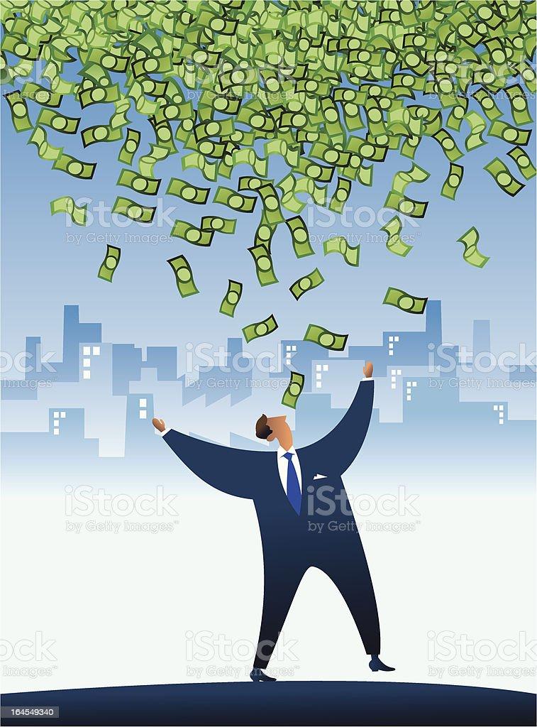 Money rain - economical solution royalty-free stock vector art