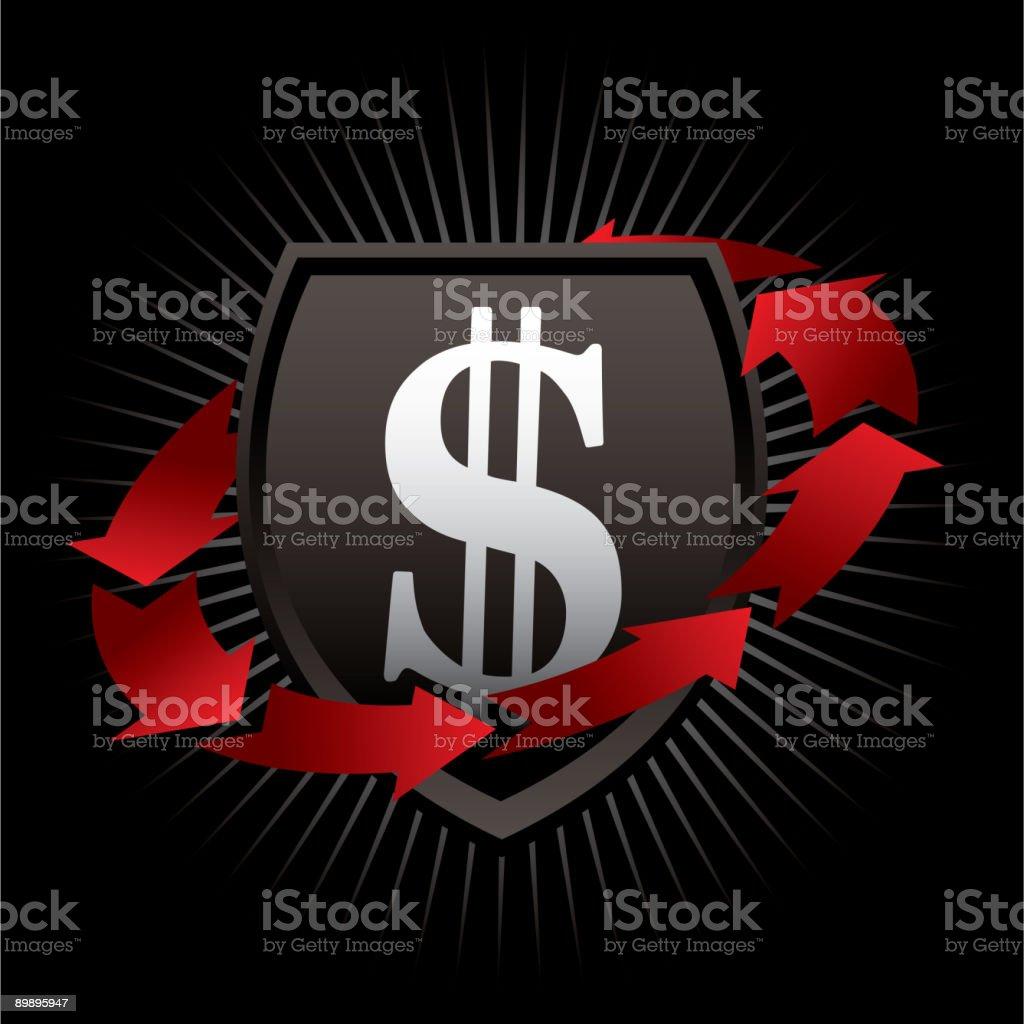 Protección de dinero ilustración de protección de dinero y más banco de imágenes de ahorros libre de derechos