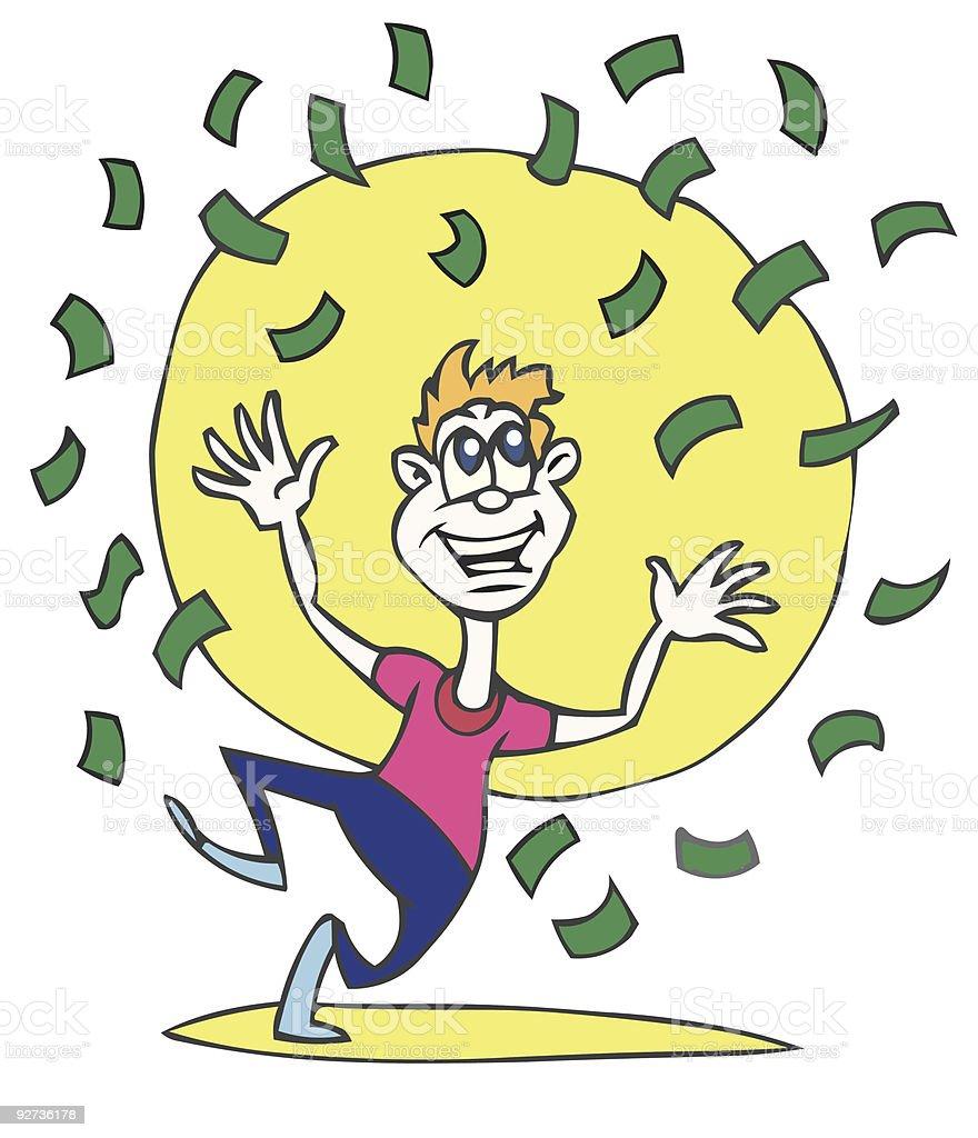 Money Winner  Adult stock vector