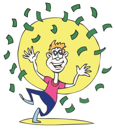 Money Winner Stock Illustration - Download Image Now