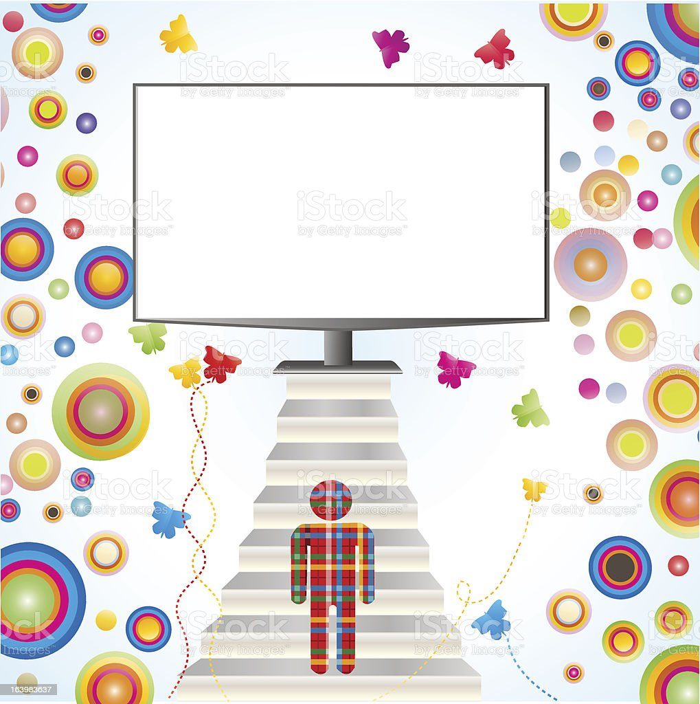 TFT Monitor royalty-free tft monitor stock vector art & more images of adult