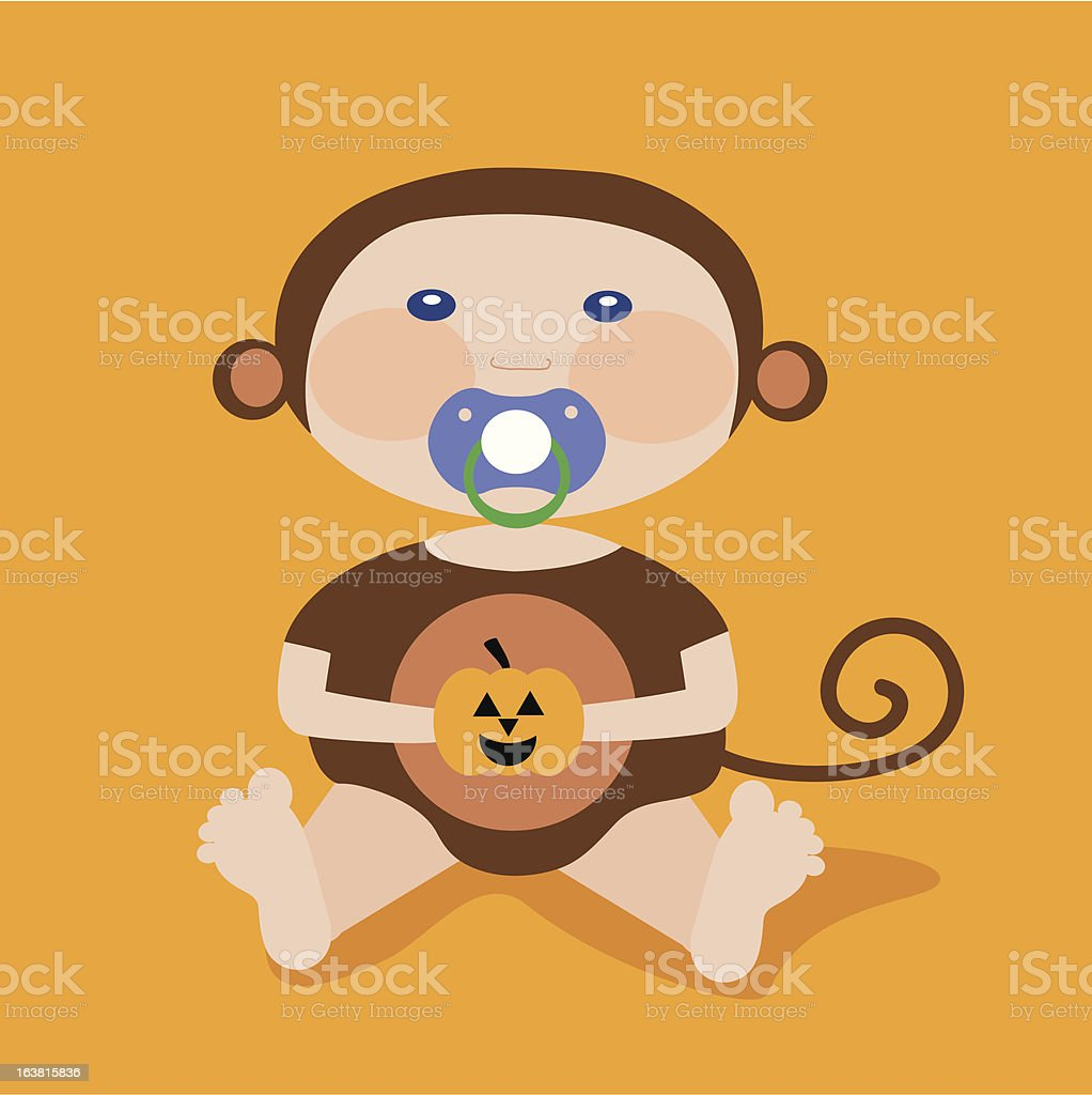 Monkey Baby royalty-free stock vector art