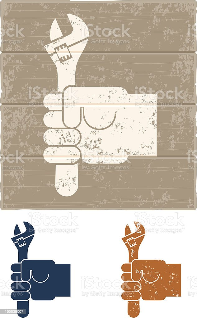 Monkey wrench royalty-free monkey wrench stock vector art & more images of adjustable wrench