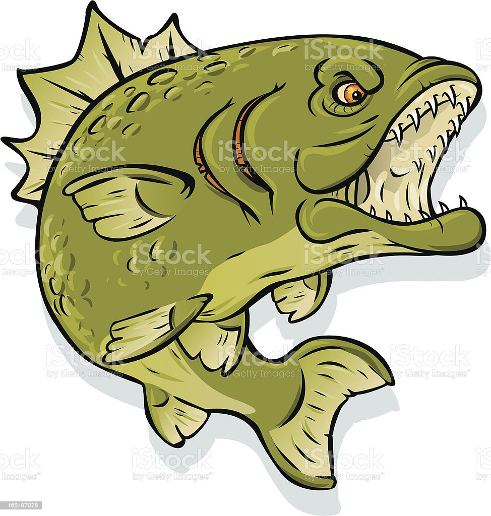 monster bass royalty-free stock vector art
