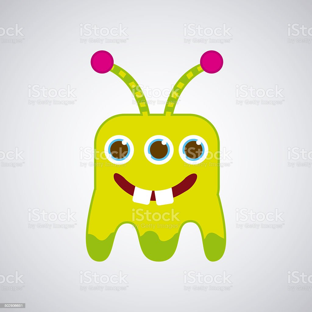 Monster  design royalty-free stock vector art