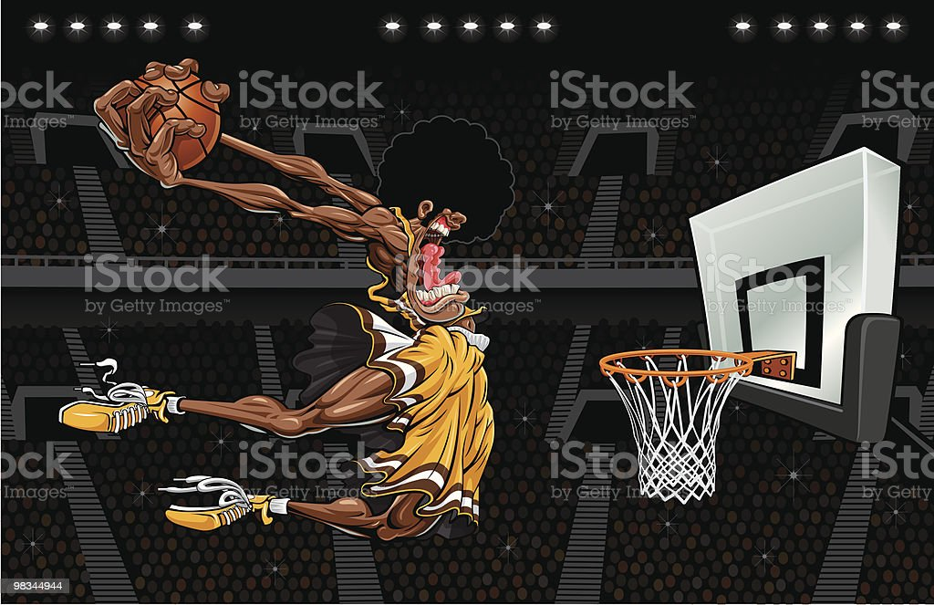 Monster Dunk (Stadium Version) royalty-free monster dunk stock vector art & more images of adult