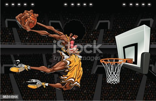 Monster Dunk Stock Vector Art & More Images of Adult 98344944