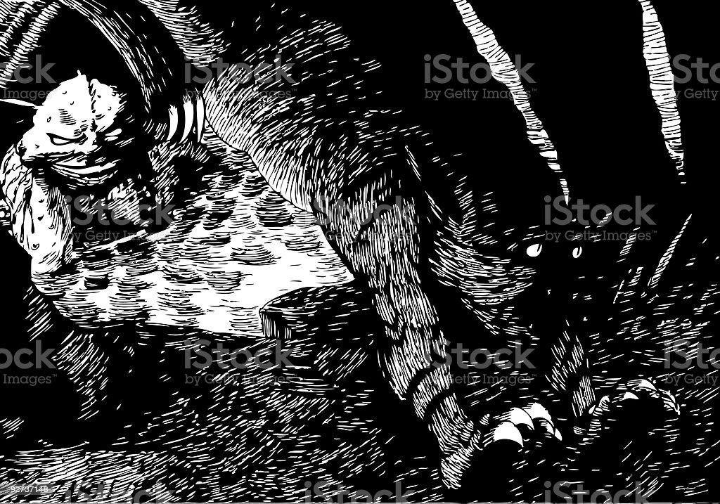 Monster Island vector art illustration
