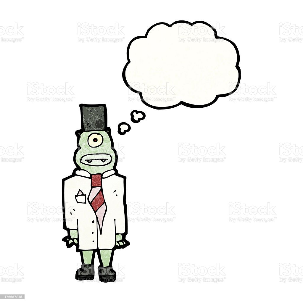monster hombre con burbuja de pensamiento ilustración de monster hombre con burbuja de pensamiento y más banco de imágenes de adulto libre de derechos