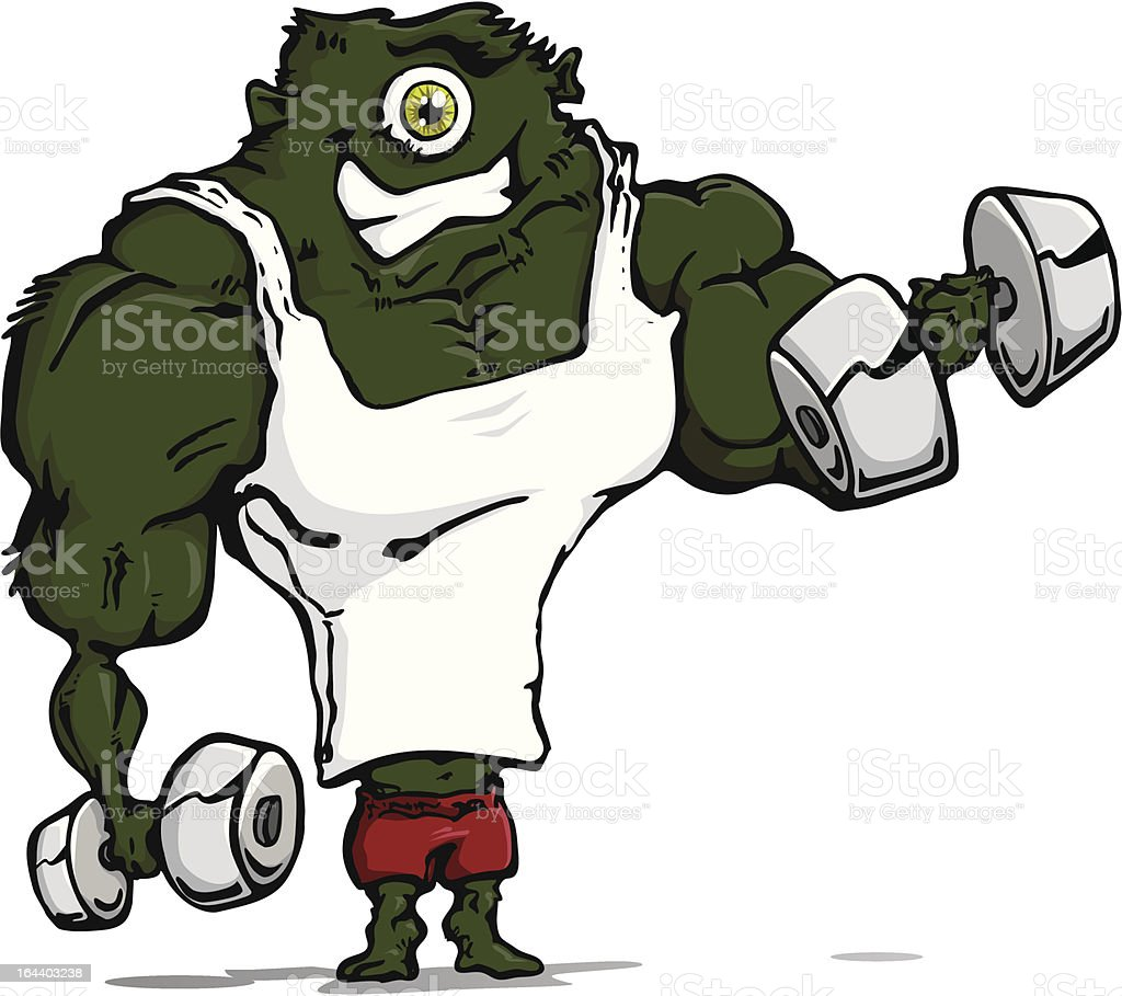 Monster muscles. royalty-free stock vector art