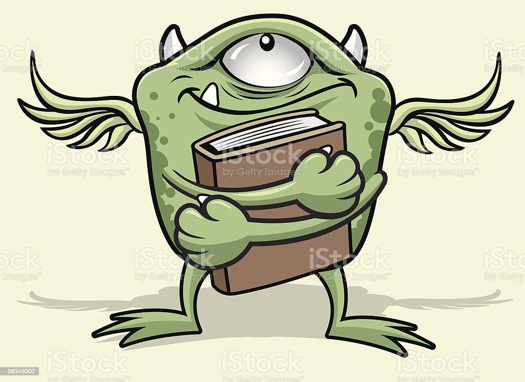 Mostro reagisce a un buon libro mostro reagisce a un buon libro - immagini vettoriali stock e altre immagini di ala di animale royalty-free