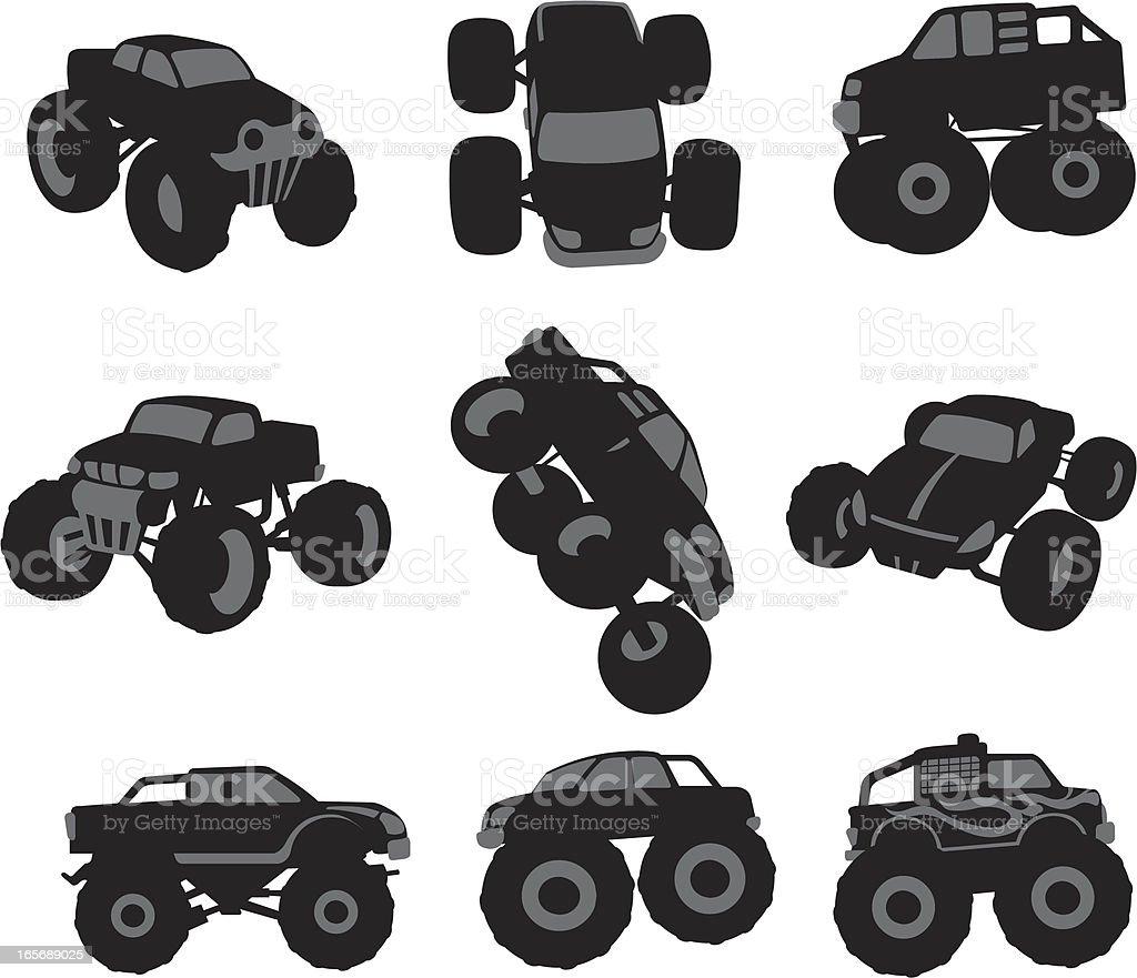 Monster Trucks Stock Illustration Download Image Now Istock