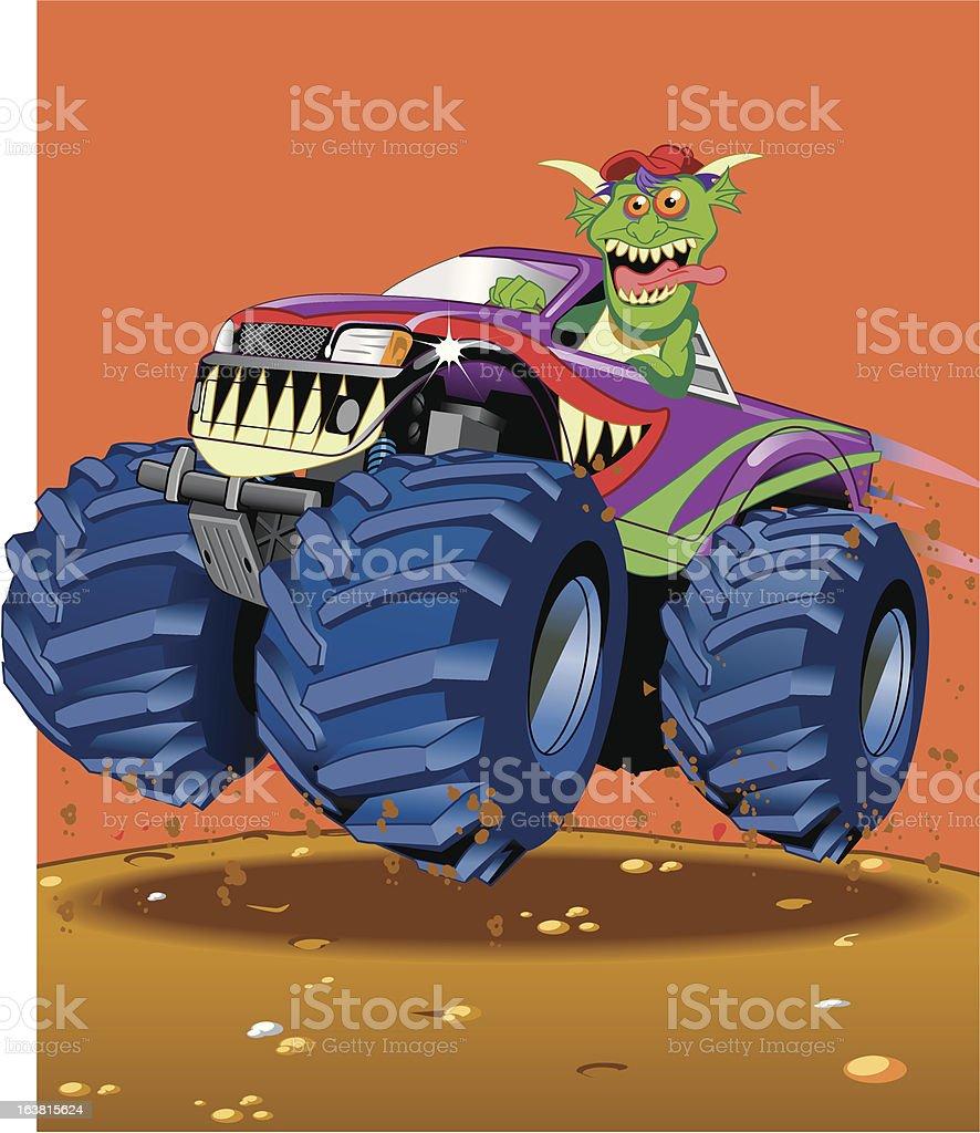 Monster's Truck royalty-free stock vector art