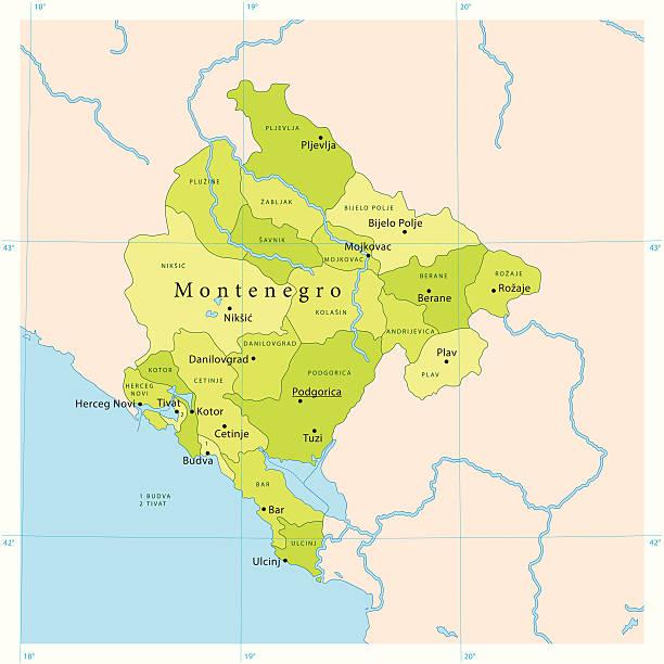 montenegro vector map - bar 幅插畫檔、美工圖案、卡通及圖標