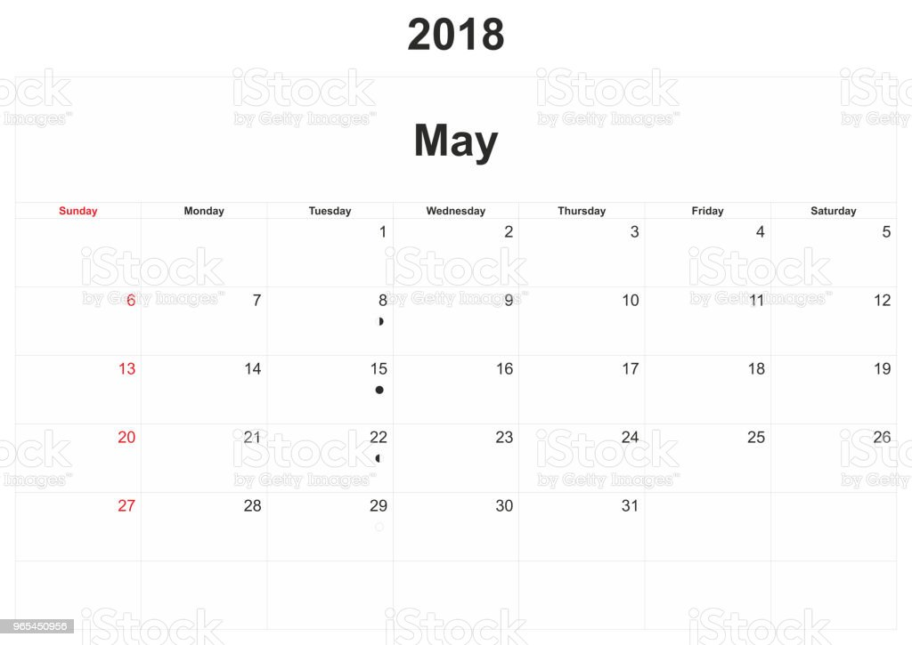 2018 monthly calendar with white background. 2018 monthly calendar with white background - stockowe grafiki wektorowe i więcej obrazów 2018 royalty-free