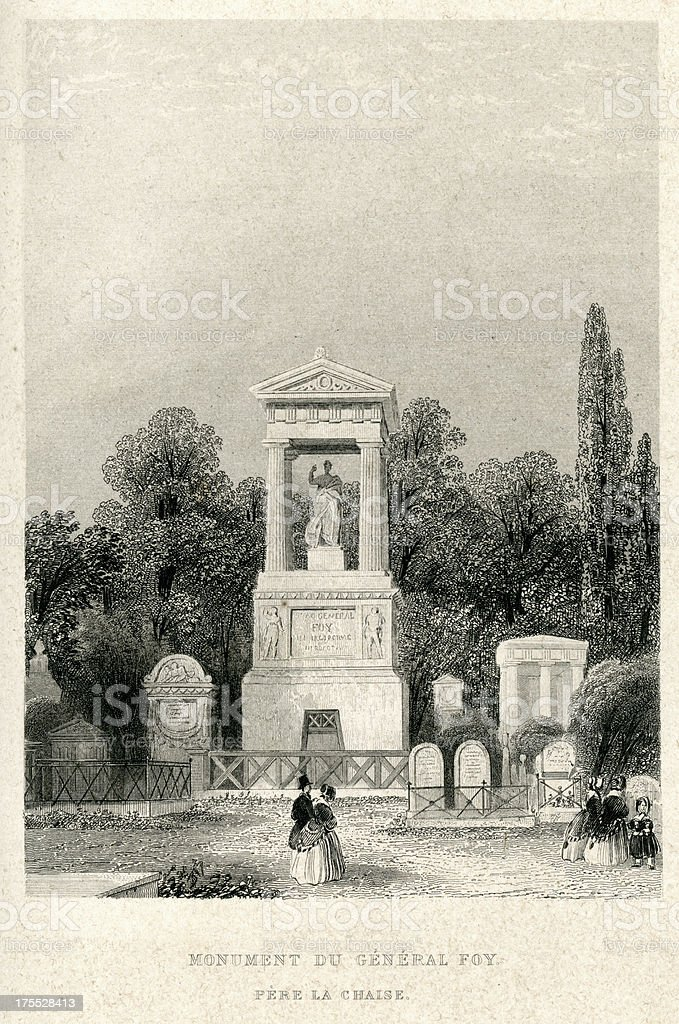 Monument du General Foy royalty-free monument du general foy stock vector art & more images of 19th century