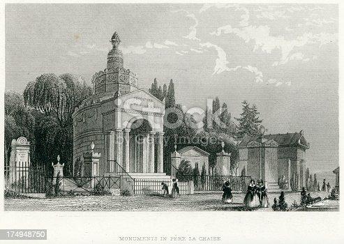 istock Monuments in Pere La Chaise, Paris 174948750