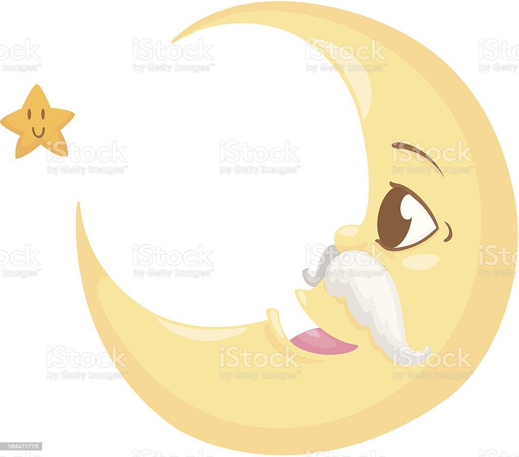 moon and star vector art illustration