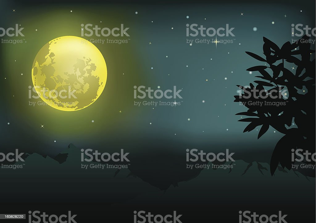 moon and starry night set B royalty-free moon and starry night set b stock vector art & more images of backgrounds