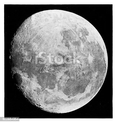 Moon - Scanned 1881 Engraving