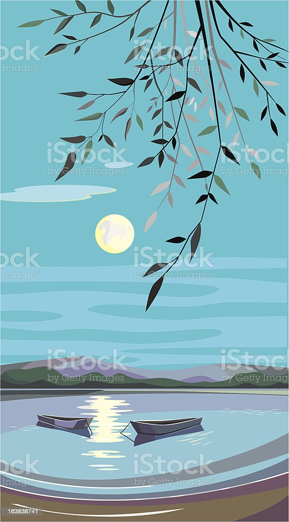 moon night royalty-free stock vector art