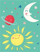 """Moon, Sun, Planet and Stars"""