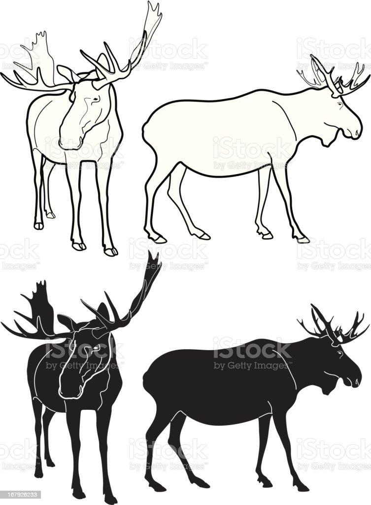 Moose royalty-free stock vector art