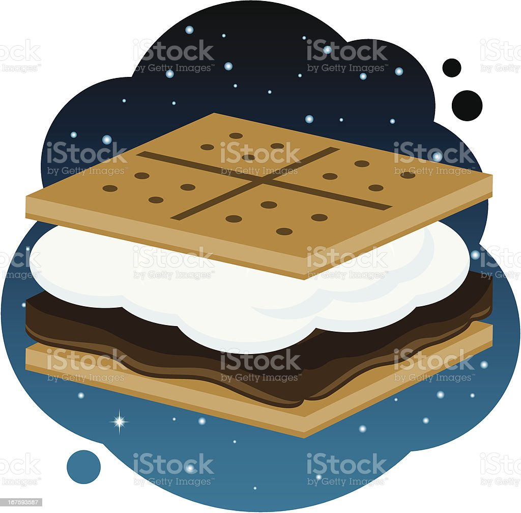 royalty free smores clip art vector images illustrations istock rh istockphoto com Roasting Marshmallows Clip Art Campfire S'mores