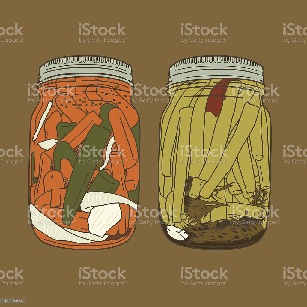 More Canned Food royalty-free stock vector art