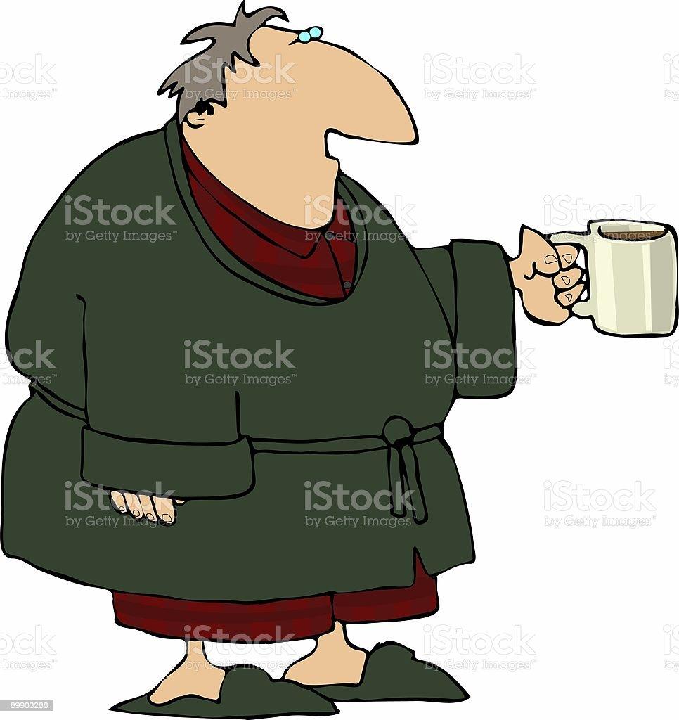 Kaffee am Morgen Lizenzfreies kaffee am morgen stock vektor art und mehr bilder von bademantel