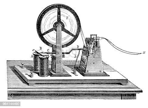 Illustration of a Morse code receiver