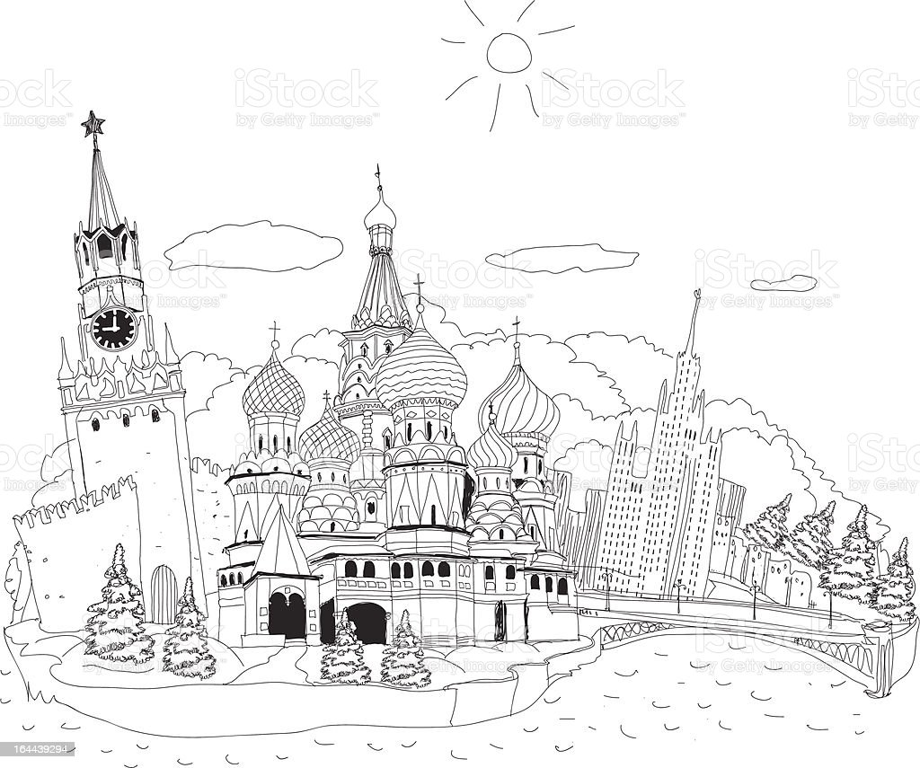 Moscow, Russia royalty-free moscow russia stock vector art & more images of angle