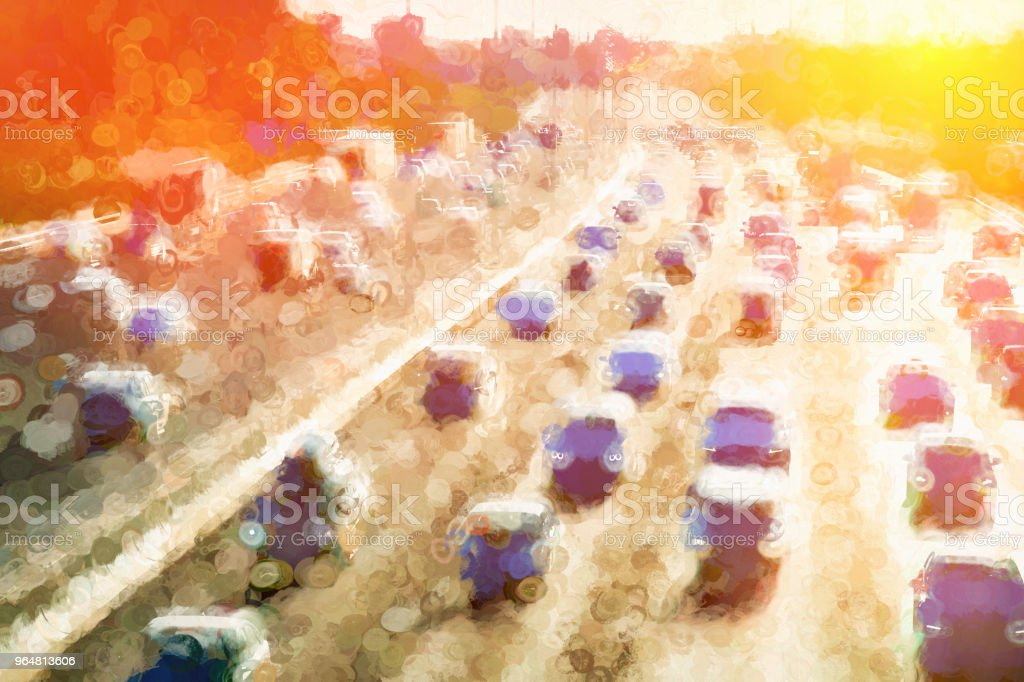 Moscow traffic jam dramatic light leak illustration background royalty-free moscow traffic jam dramatic light leak illustration background stock vector art & more images of backdrop - artificial scene