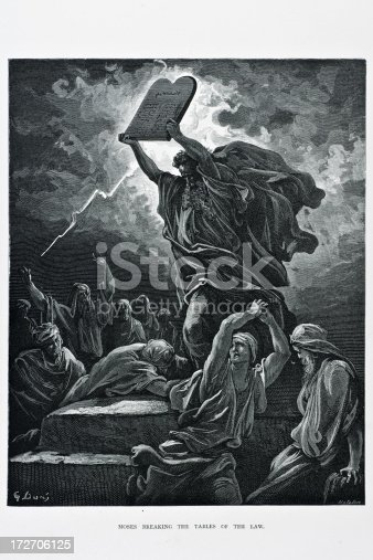 istock Moses breaking tables of the law 172706125
