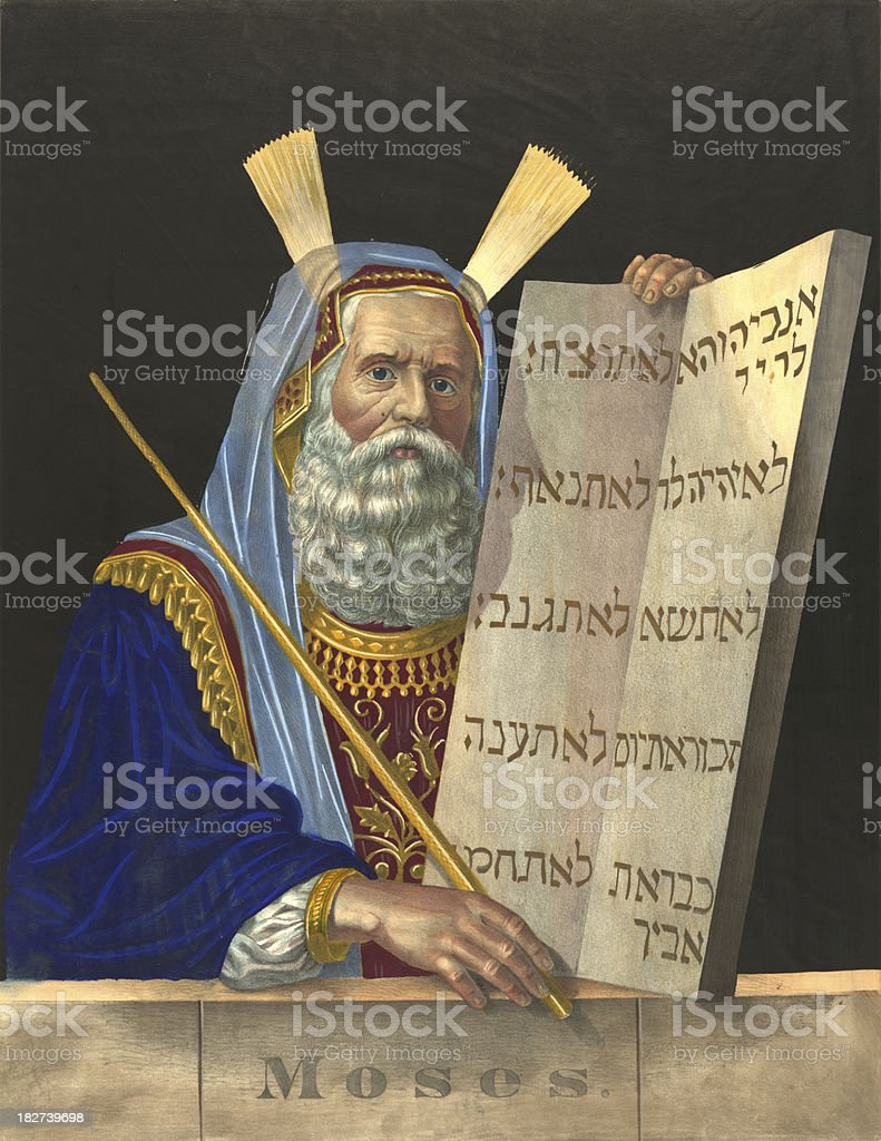 Moses royalty-free stock vector art