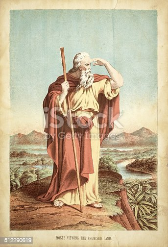 istock Moses viewing the promised land engraving 512290619