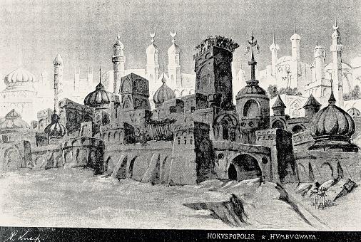 Mosque city full of minarets