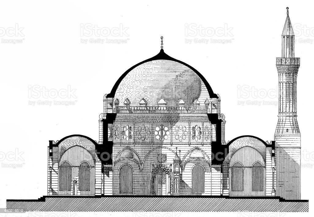 Mosque of Sinan Pasha in Cairo vector art illustration