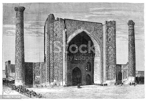 Mosque Ulugh Beg Madrasah in Uzbekistan