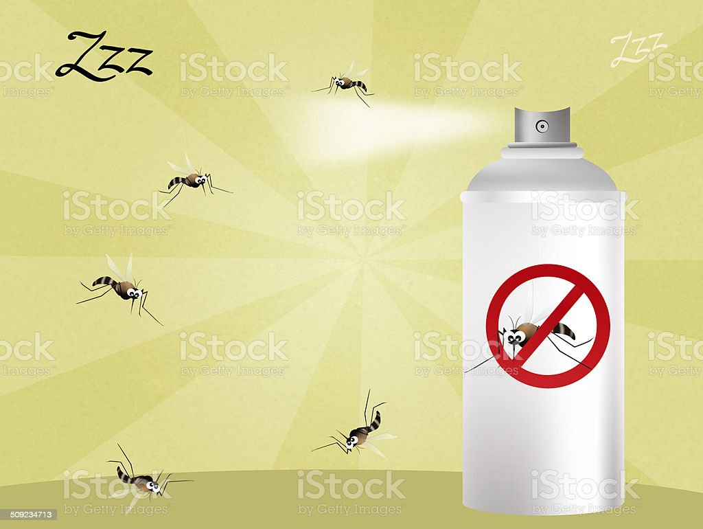 mosquito stop vector art illustration