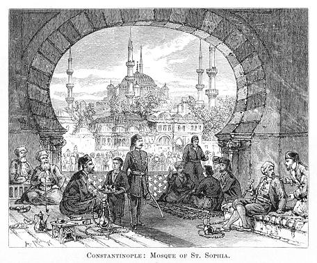 Mosuqe Turkey engraving 1881