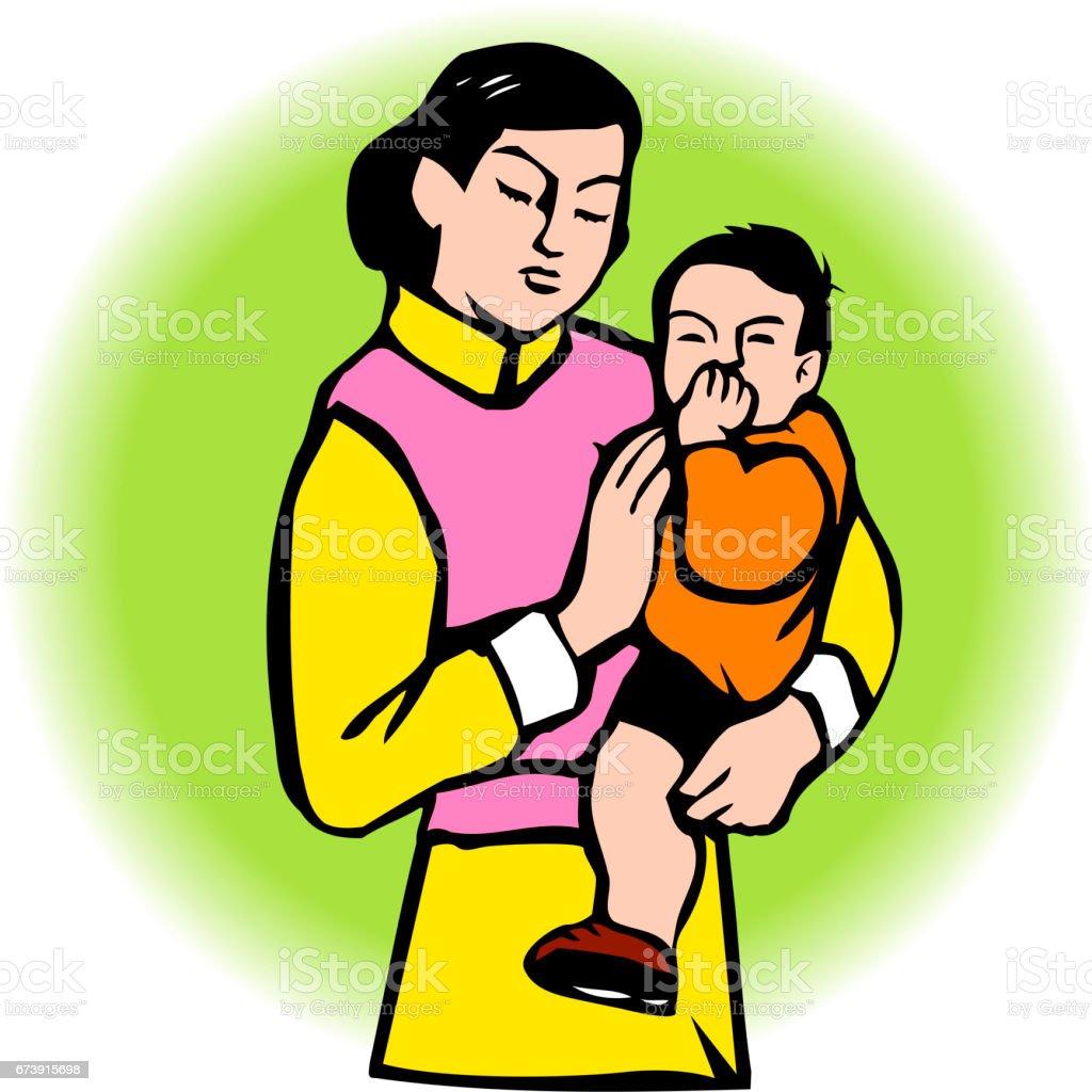 Mère et enfant mère et enfant – cliparts vectoriels et plus d'images de adulte libre de droits