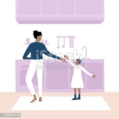 istock Mother and daughter cooking at kitchen 1225161175